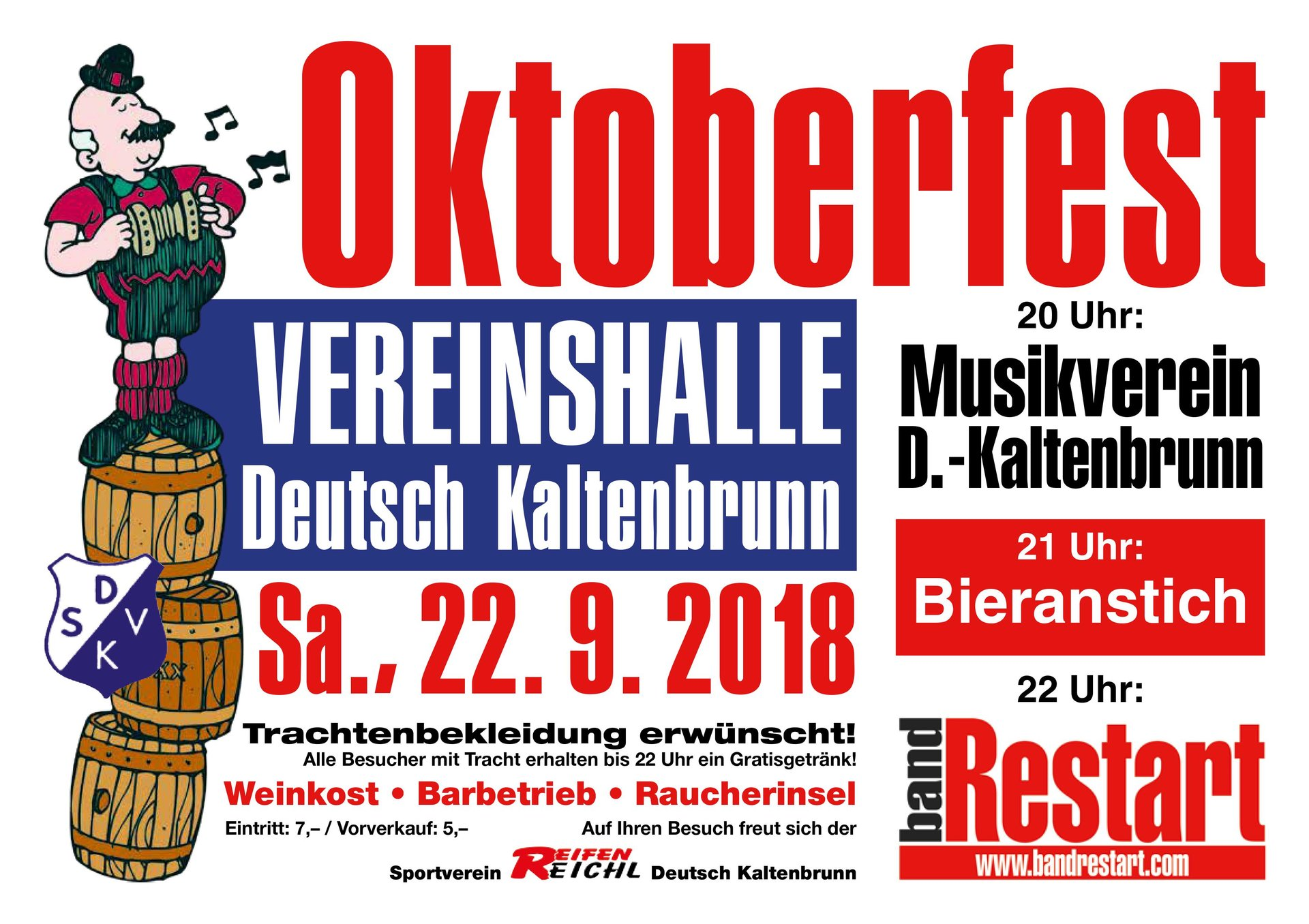Oktoberfest in Deutsch Kaltenbrunn am 22.09.2018